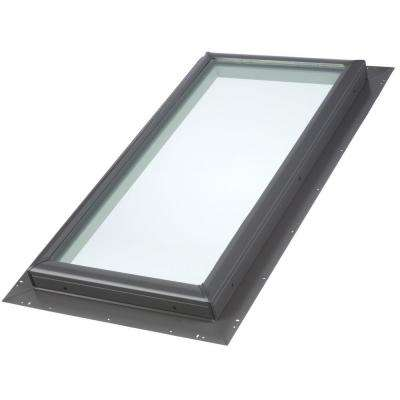 22-1/2 in. x 46-1/2 in. Fixed Pan-Flashed Skylight with Tempered Low-E3 Glass