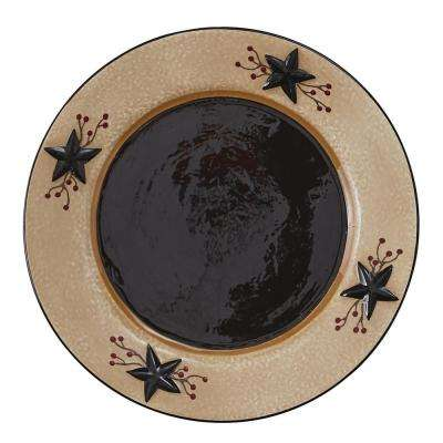 Star Vine Beige Salad Plate (Set of 4)