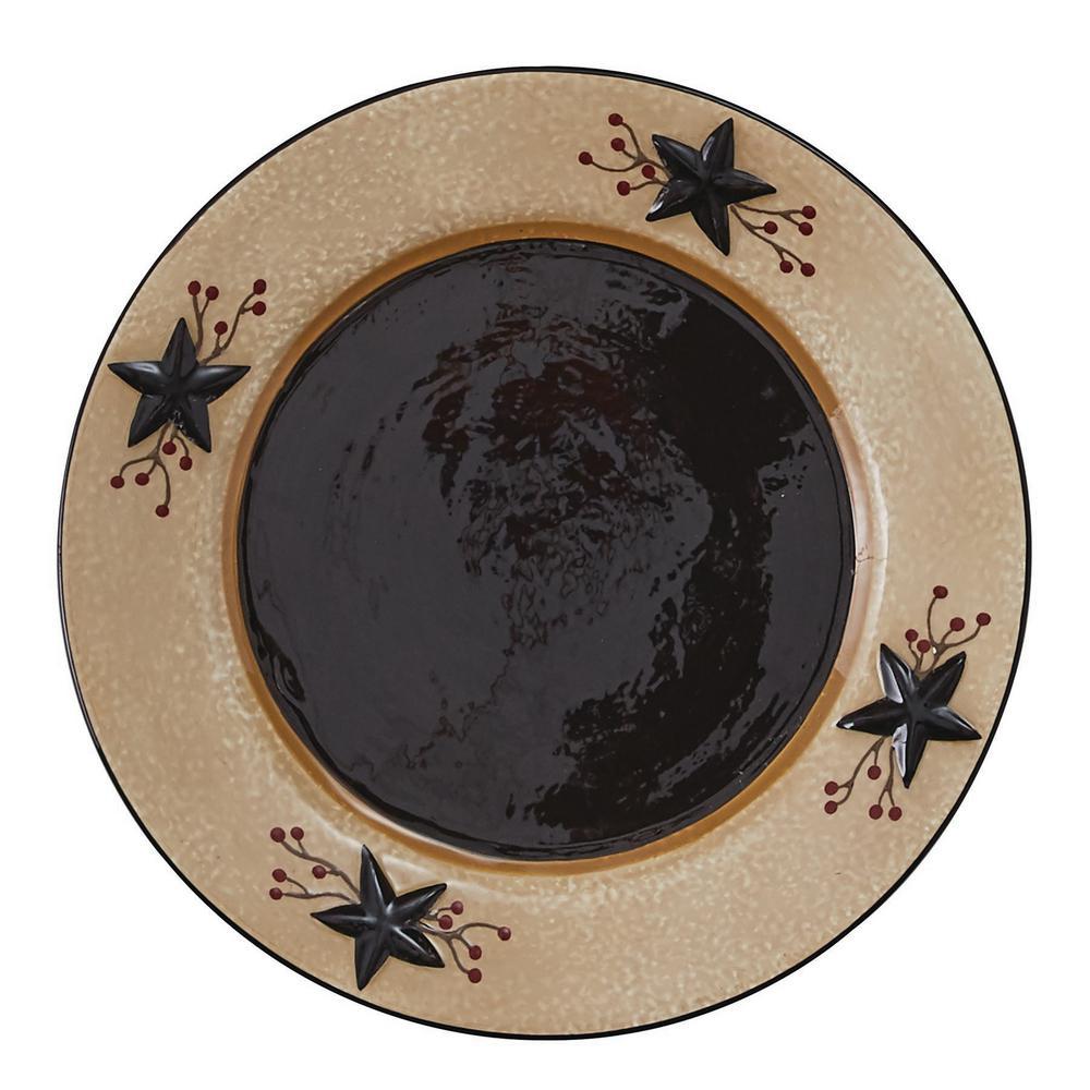 Star Vine Beige Salad Plate (Set of 4)