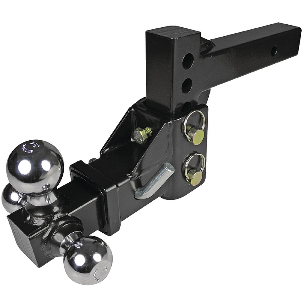 Adjustable Tow Hitch >> Fultyme Rv Adjustable Tri Ball Trailer Hitch 1040 The Home Depot