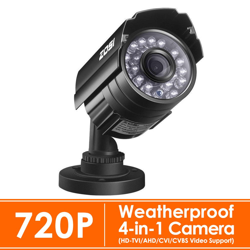 b4bee4f9eb6 Wired 720p Outdoor Bullet Security Camera 4-in-1 Compatible for  TVI CVI AHD CVBS DVR