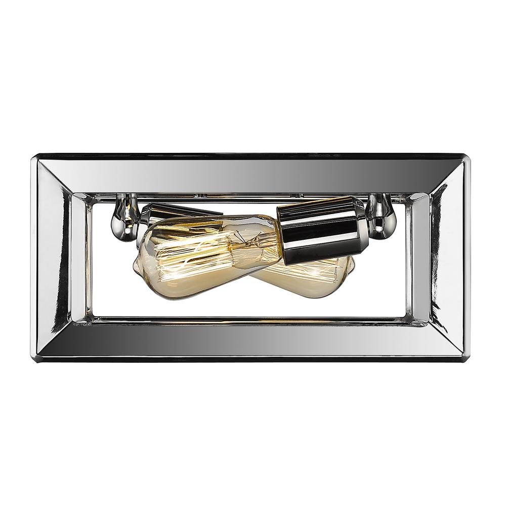 Smyth 2-Light Chrome Flushmount