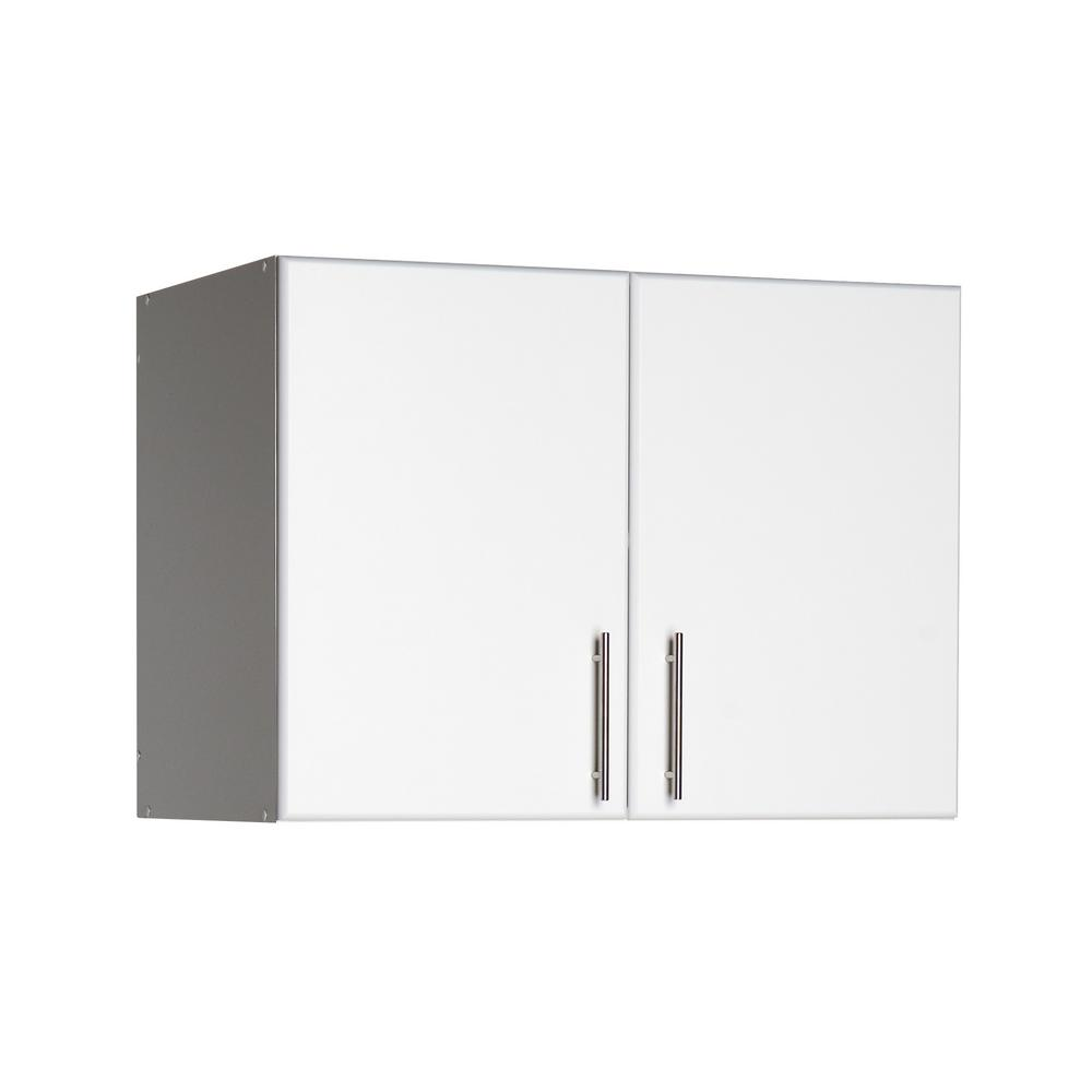 Prepac Elite 32 In. Wood Laminate Cabinet In White