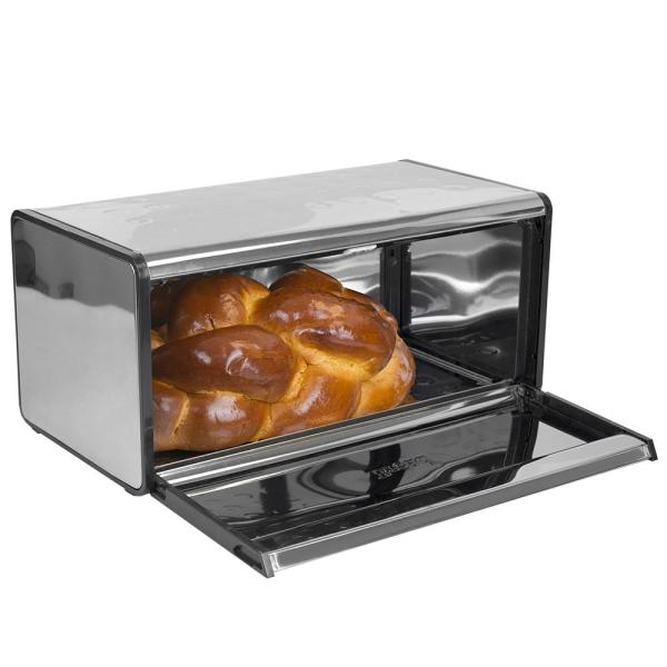 Home Basics Mirror Stainless Steel Bread Box BB40204