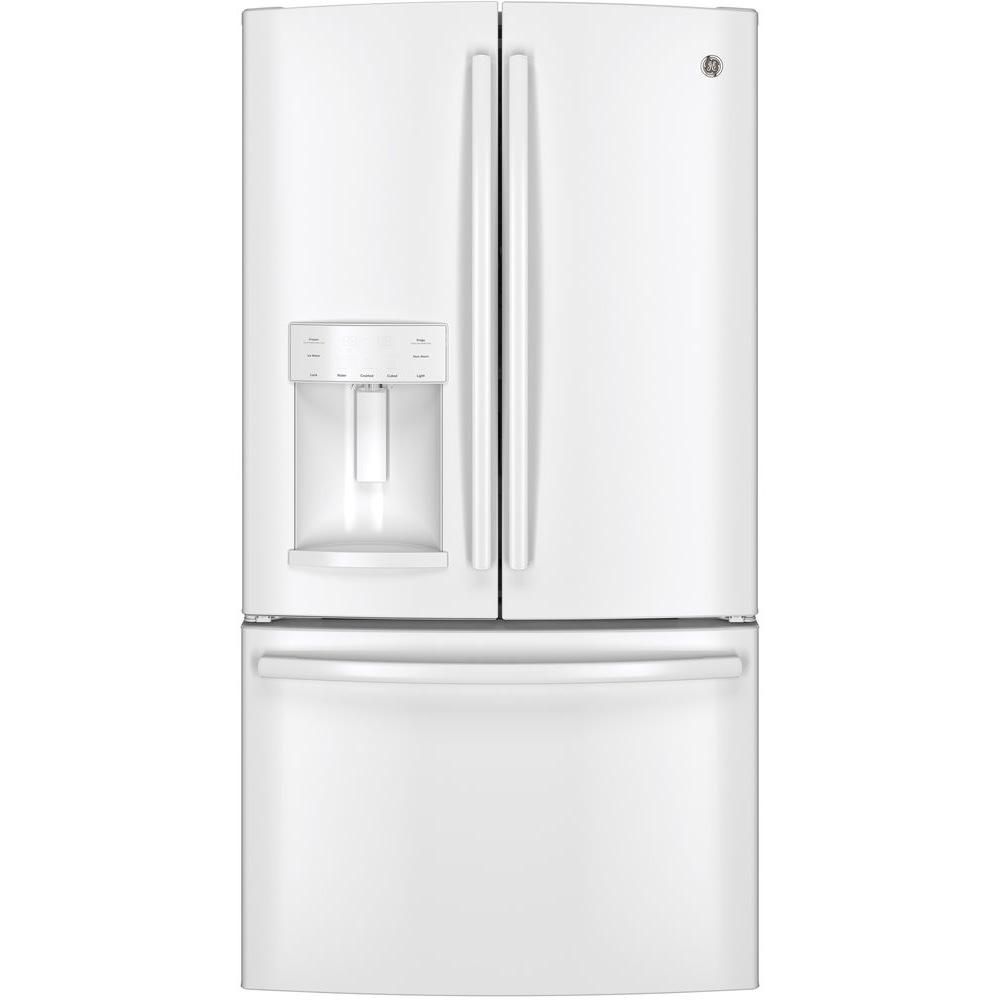 GE 25.7 cu. ft. French Door Refrigerator in White
