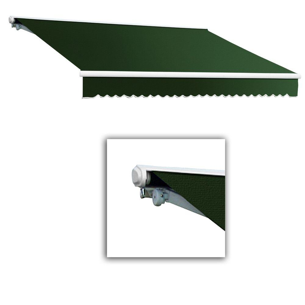 AWNTECH 14 ft. Galveston Semi-Cassette Manual Retractable Awning (120 in. Projection) in Forest