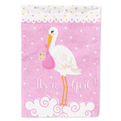28 in. x 40 in. Polyester It's a Baby Girl Flag Canvas House Size 2-Sided Heavyweight