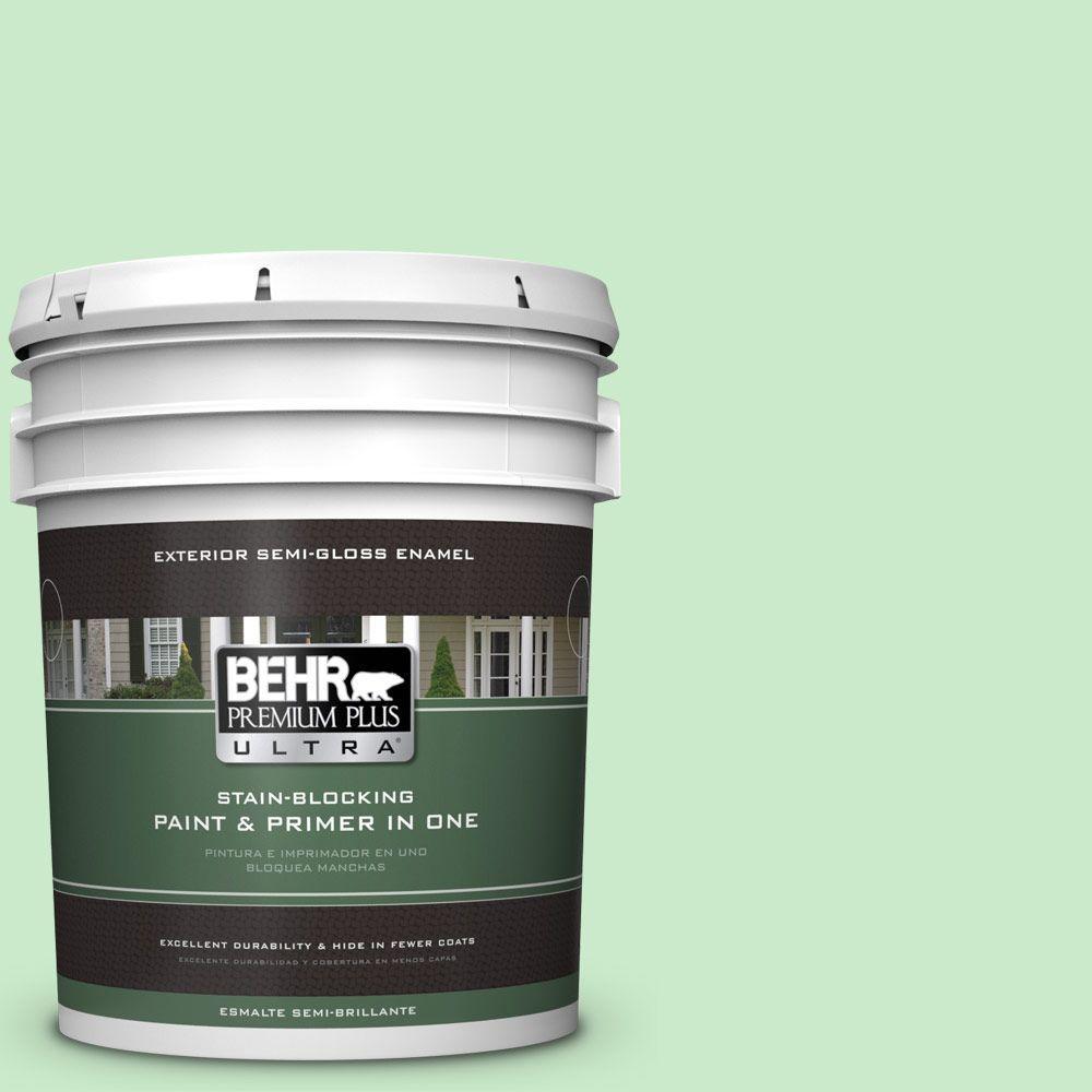 BEHR Premium Plus Ultra 5-gal. #P390-2 Chilled Mint Semi-Gloss Enamel Exterior Paint