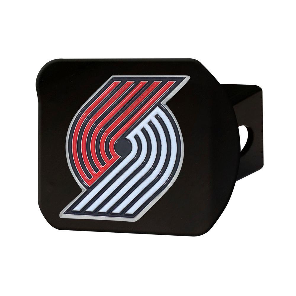 FANMATS NBA Portland Trail Blazers Color Emblem on Black Hitch Cover