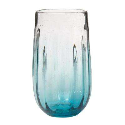Rosa 20 oz. 6-Piece Aqua Glass Hiball Drinkware Set