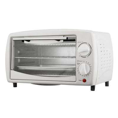 4-Slice White Toaster Oven