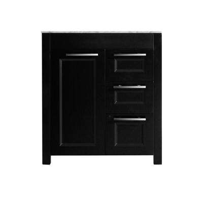 Bosconi 29 in. Main Cabinet Only in Black with Brushed Nickel Hardware