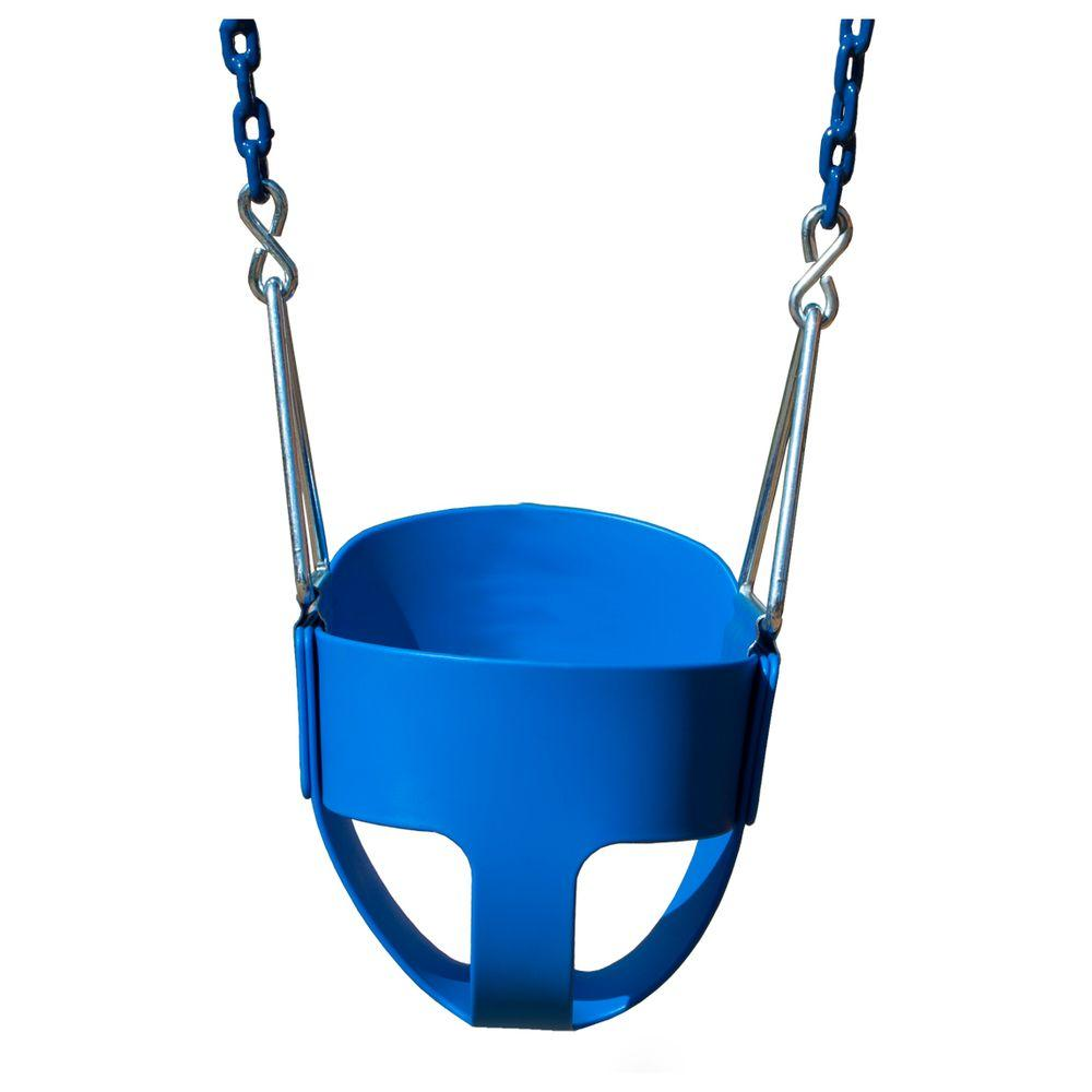 Gorilla Playsets Full-Bucket Swing with Chain in Blue