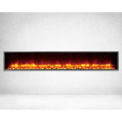 Fabulous 79 In Built In Led Electric Fireplace In Black Matt Download Free Architecture Designs Scobabritishbridgeorg