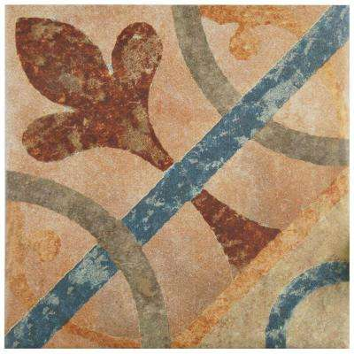 Americana Cleveland Encaustic 8-3/4 in. x 8-3/4 in. Porcelain Floor and Wall Tile (11.25 sq. ft. / case)