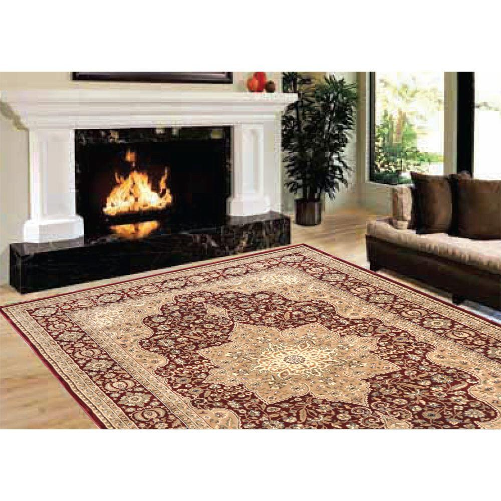 Home Dynamix Majestic Burgundy 3 ft. 11 in. x 5 ft. 2 in. Area Rug