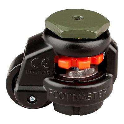 1-5/8 in. Nylon Wheel Standard Stem Leveling Caster with Load Rating 110 lbs.