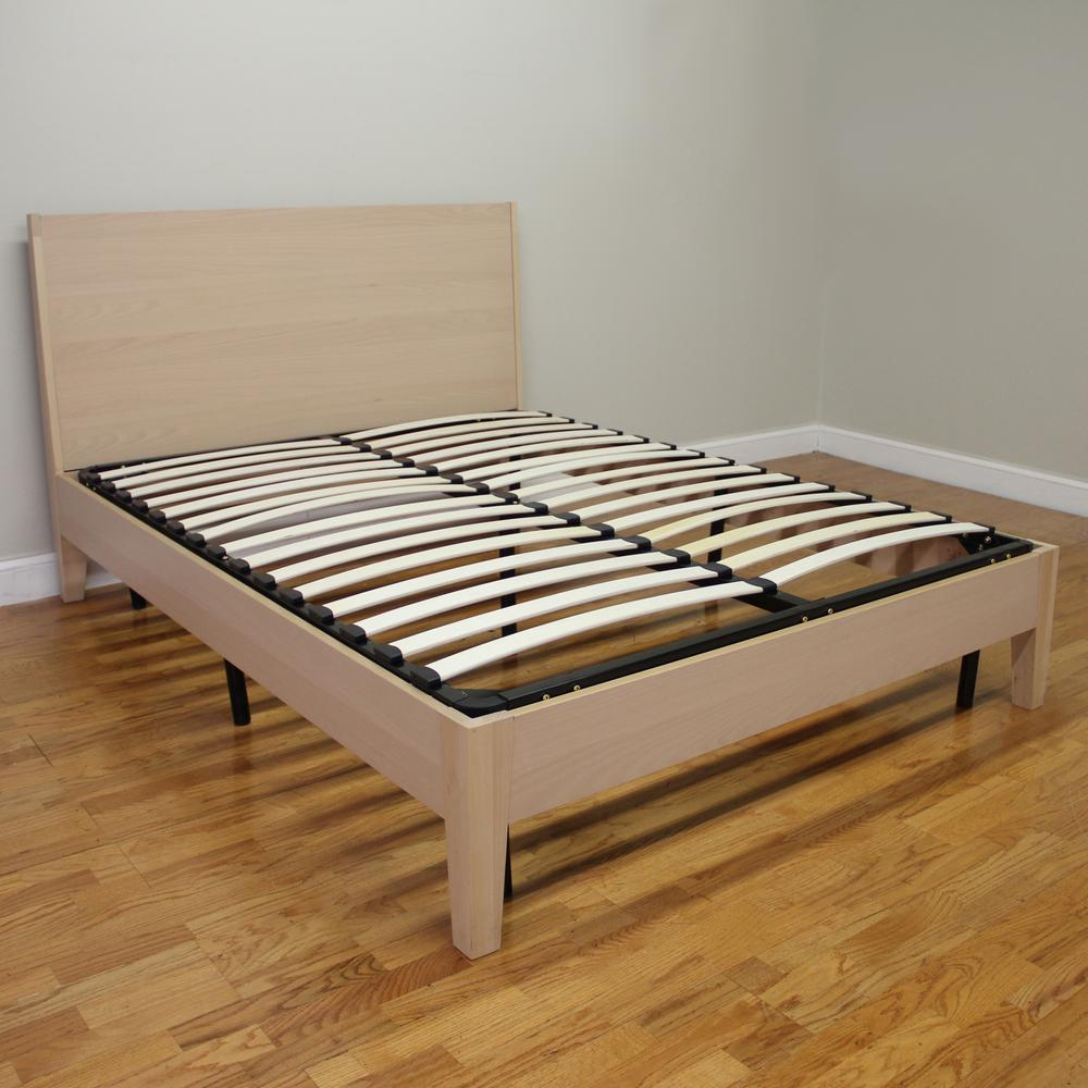 Wooden furniture box beds - Null Europa Full Size Wood Slat And Metal Platform Bed Frame