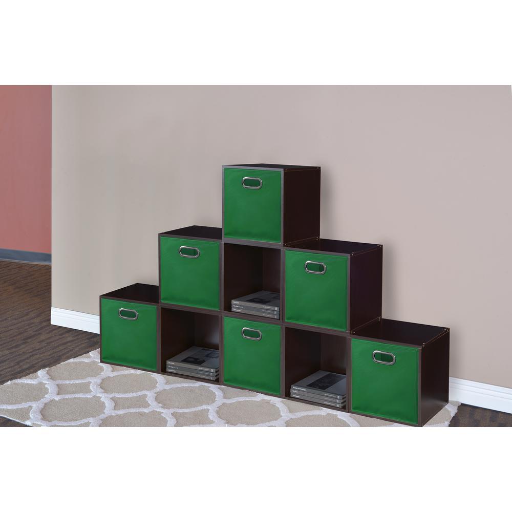 Cubo 12 in. x 12 in. Green Foldable Fabric Bin (6-Pack)