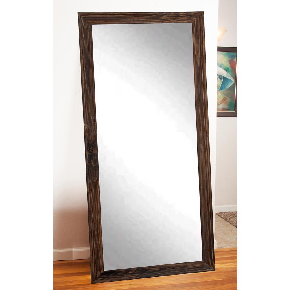 Dark Brown Wood - Rustic - Rectangle - Floor Mirrors - Mirrors - The ...