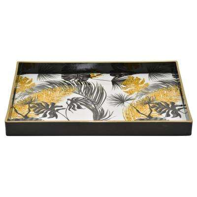 1.5 in. Tray Multi-Colored Tropical Motif