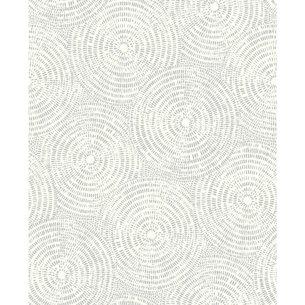 56.4 sq. ft. Ripple Grey Shibori Wallpaper