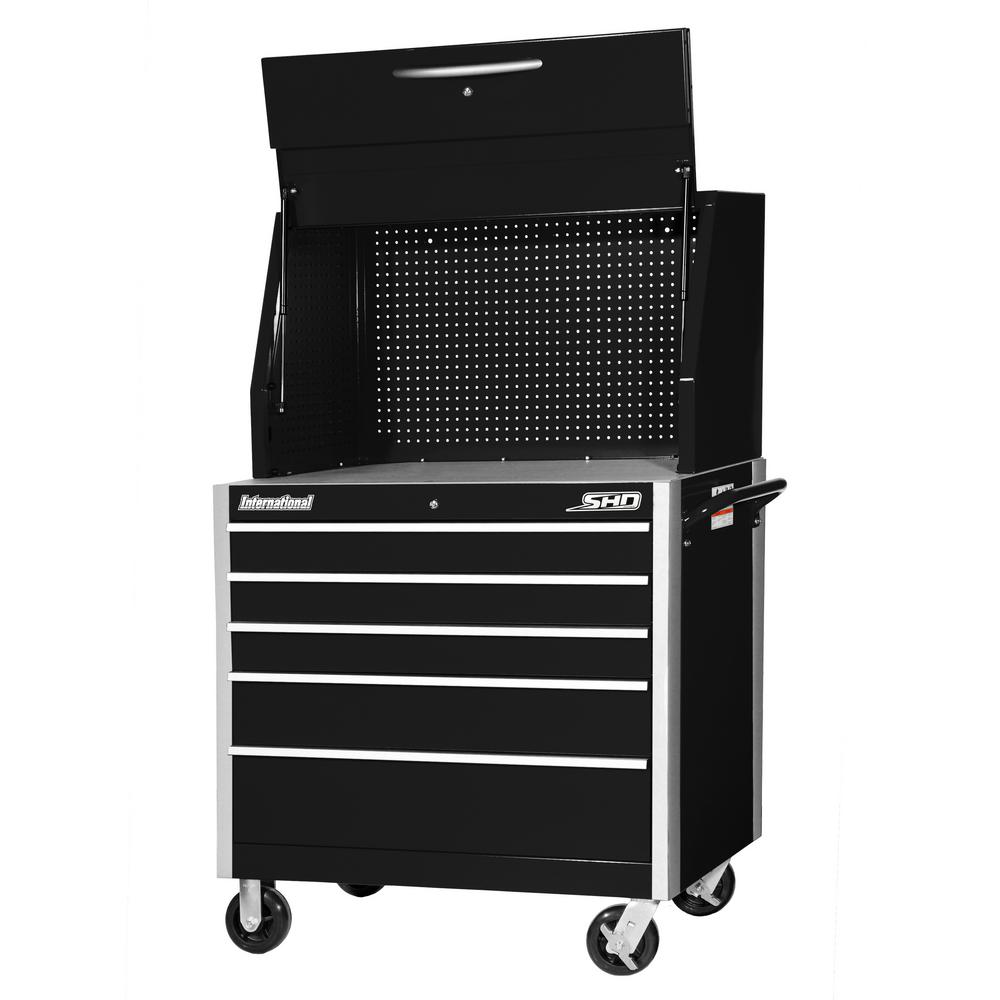 SHD Series 42 in. 5-Drawer Tool Chest and Cabinet Combo in