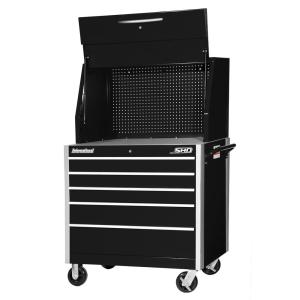International SHD Series 42 inch 5-Drawer Tool Chest and Cabinet Combo in Black by International