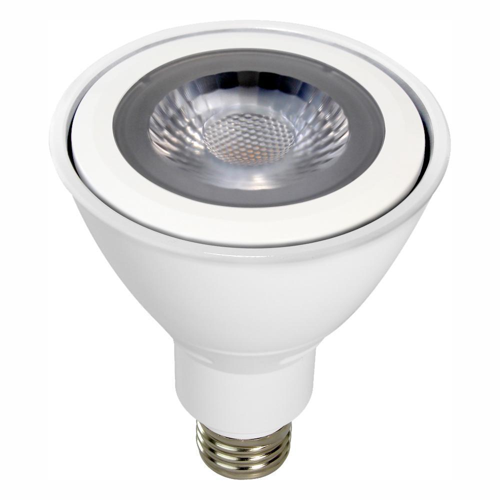 75W Equivalent Cool White (5000K) PAR30 Long Neck Dimmable MCOB LED Flood Light Bulb
