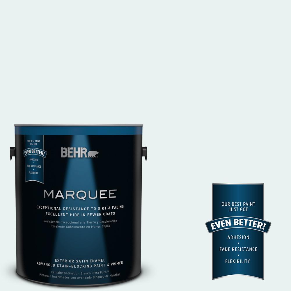 BEHR MARQUEE 1-gal. #W-B-520 Glacial Tint Satin Enamel Exterior Paint