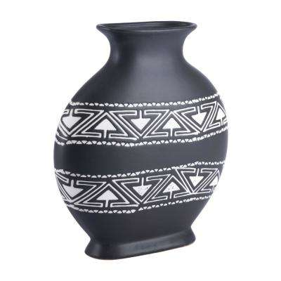 Black and White Kolla Medium Decorative Vase