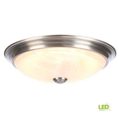 1-Light Satin Platinum LED Ceiling Flush Mount