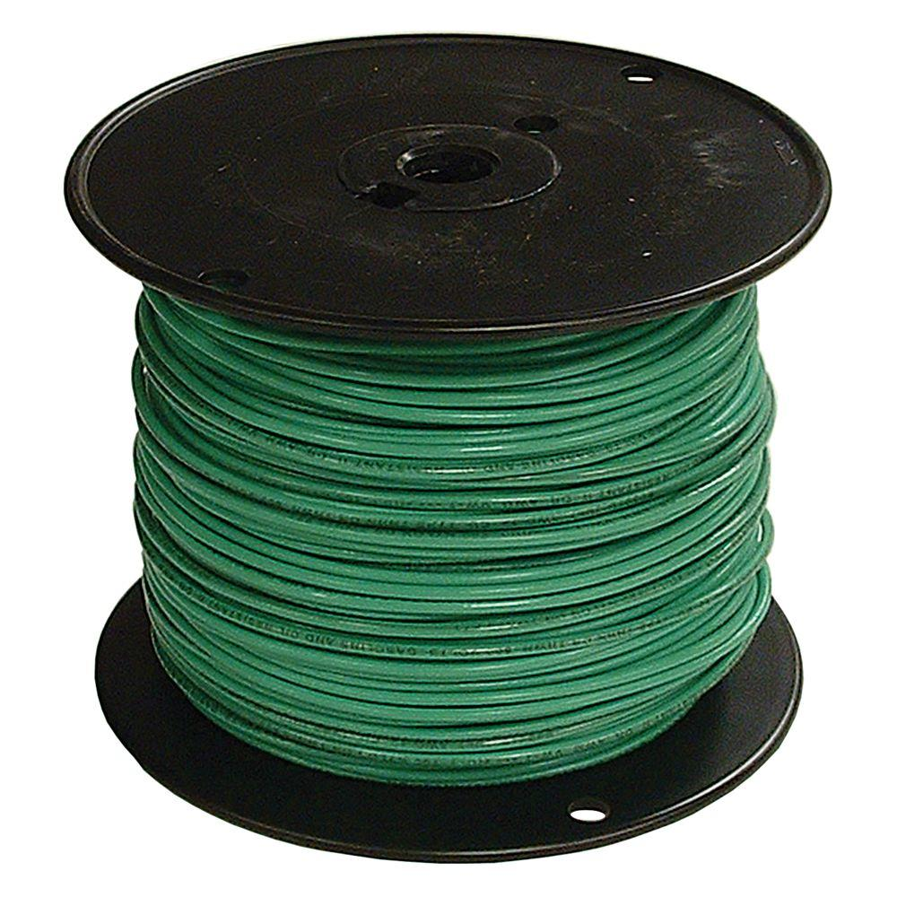 Southwire 100 ft. 6 Green Stranded CU SIMpull THHN Wire-20497450 ...