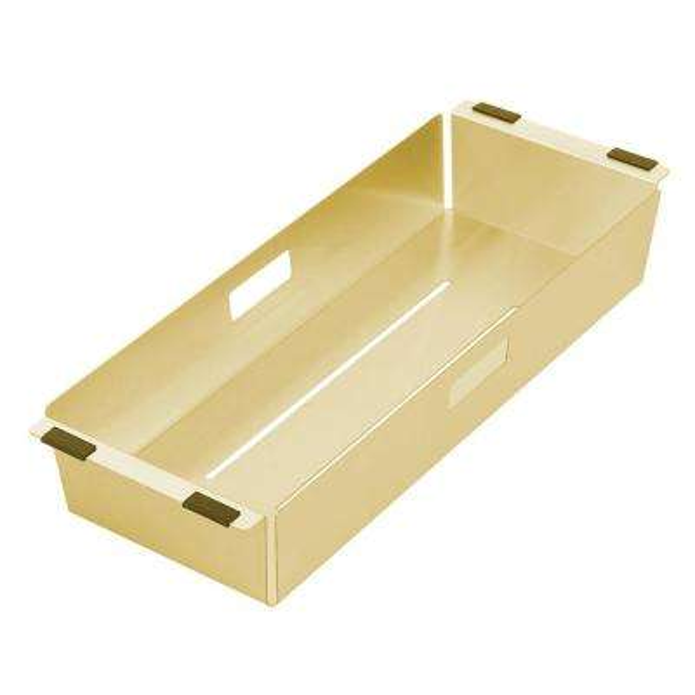Noah Plus 17 in. Stainless Steel Sink Colander in Brass