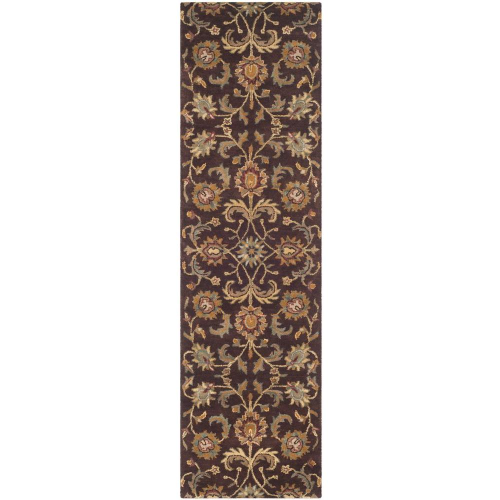 Heritage Brown/Gold 2 ft. 3 in. x 8 ft. Runner
