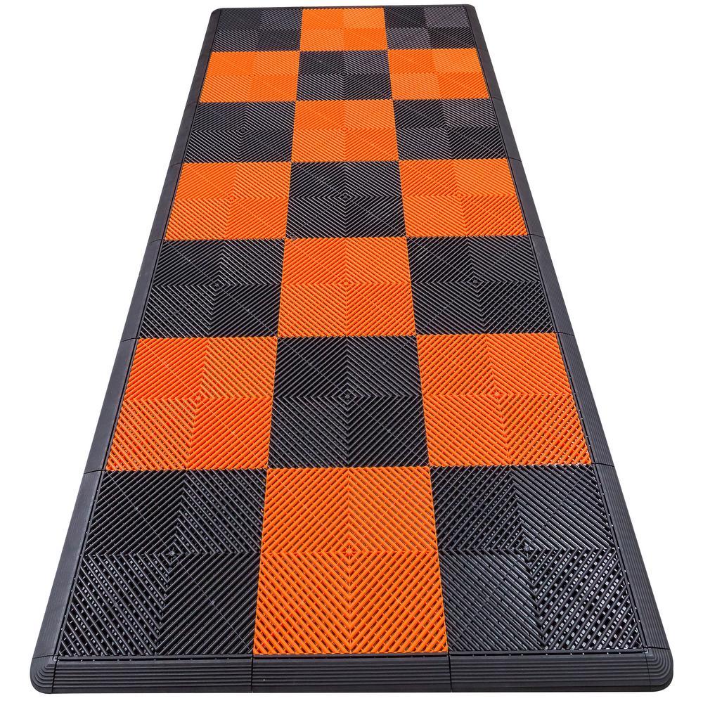 Swisstrax garage flooring flooring the home depot orange checkered motorcycle pad ribtrax modular dailygadgetfo Image collections