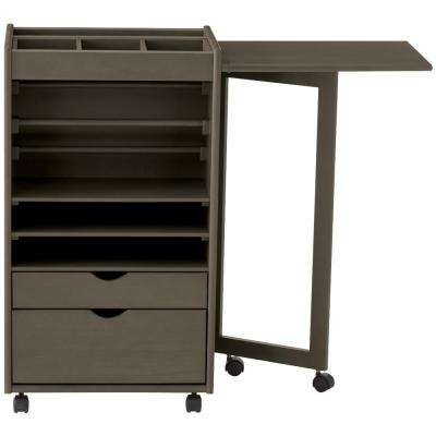 Stanton 20 in. W Deluxe Wrapping Cart in Antique Grey