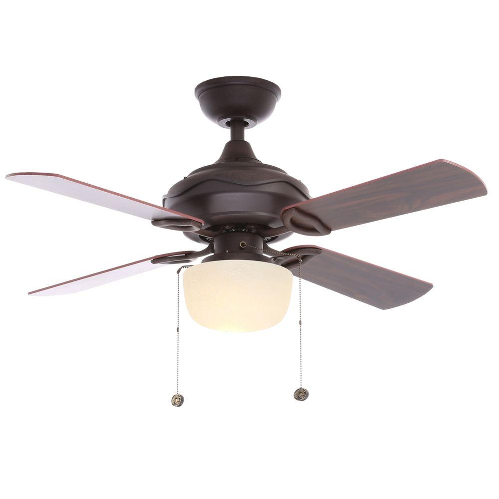 Hampton Bay Courtney 42 in. Indoor Oil Rubbed Bronze Ceiling Fan ...