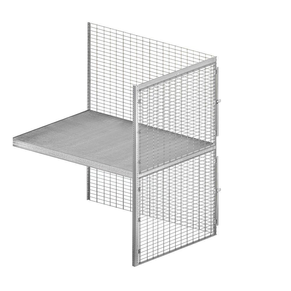 Salsbury Industries 8200 Series 48 in. W x 90 in. H x 60 in. D 2-Tier Bulk Storage Locker with Add-On in Aluminum