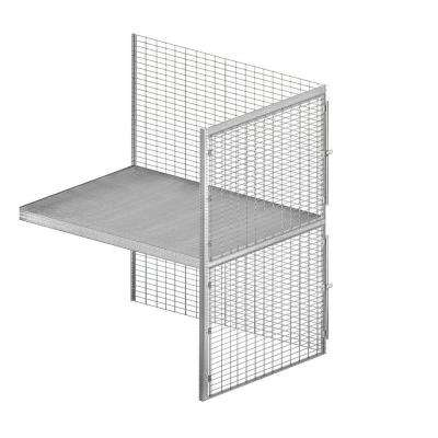 8200 Series 48 in. W x 90 in. H x 60 in. D 2-Tier Bulk Storage Locker with Add-On in Aluminum