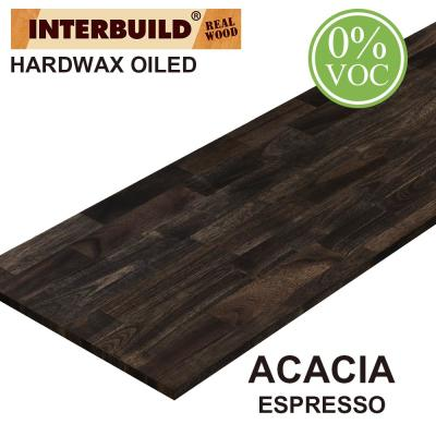 Acacia 8 ft. L x 40 in. D x 1 in. T Butcher Block Island Countertop in Espresso Stain