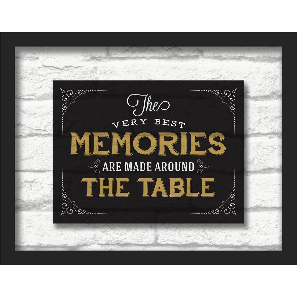 "14 in. x 11 in. ""The Very Best Memories"" Shadowbox Wall"