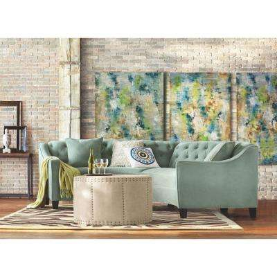 Riemann 2-Piece Blue Mist Microsuede Sectional