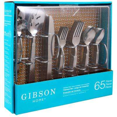 Prato 65-Piece Flatware Set with Wire Caddy