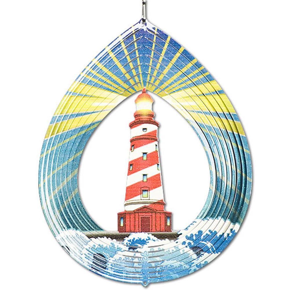 Iron Stop 6.5 in. Lighthouse Wind Spinner