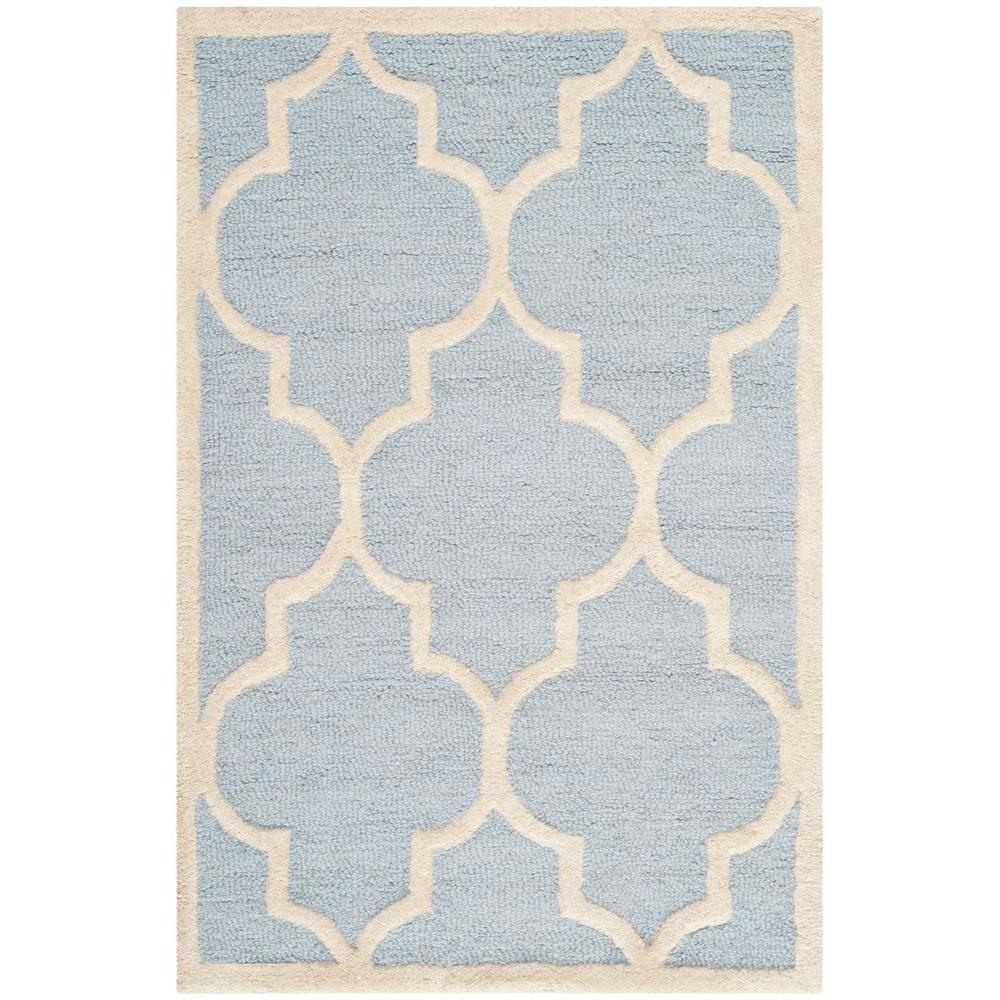 Cambridge Light Blue/Ivory 11 ft. 6 in. x 16 ft. Area