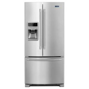 Click here to buy Maytag 33 inch W 21.7 cu. ft. French Door Refrigerator in Fingerprint Resistant Stainless Steel by Maytag.