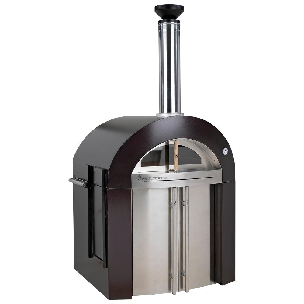 Bellagio 32 in. x 36 in. 500-Wood Burning Oven with Cabinet