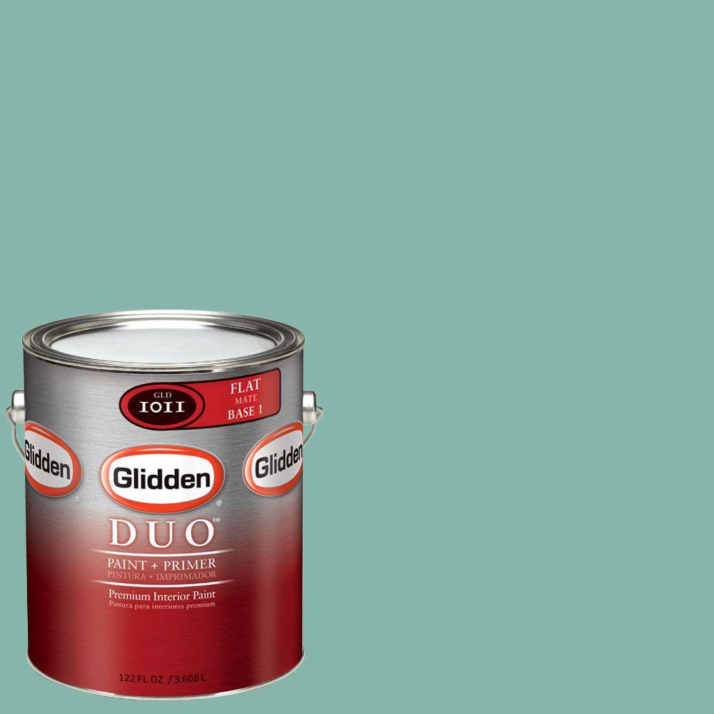 Glidden DUO Martha Stewart Living 1-gal. #MSL135-01F Hummingbird Blue Flat Interior Paint with Primer - DISCONTINUED