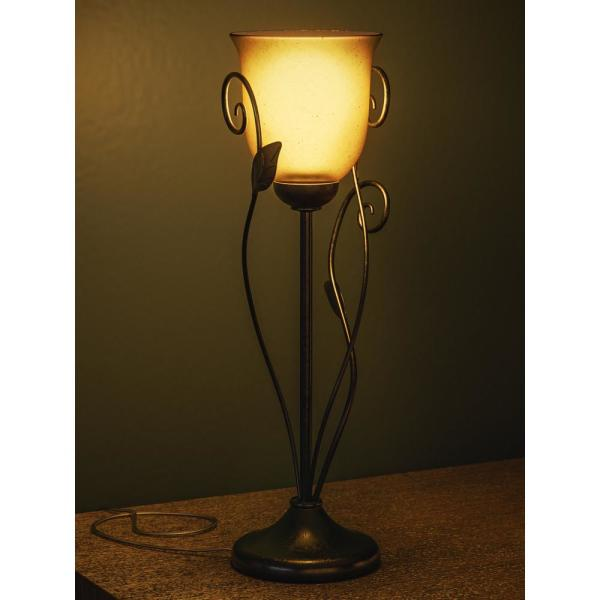 Light Bronze Table Torchiere Lamp